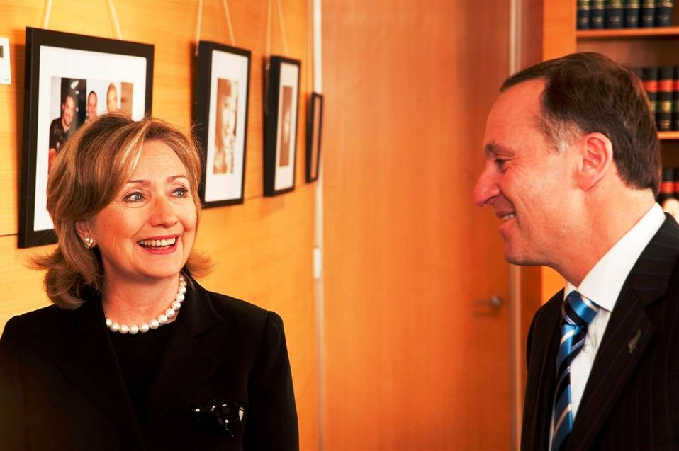 Secretary Clinton Speaks With New Zealand Prime Minister Key