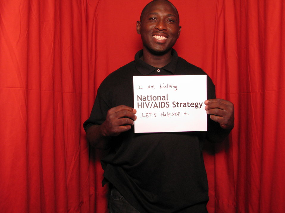 I am Helping the National HIV/AIDS Strategy. LET'S help stop it.