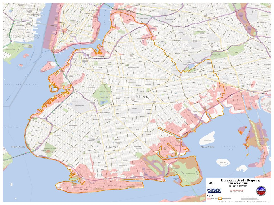 Hurricane Sandy Hazardous Waste Pickup Sites - Kings County