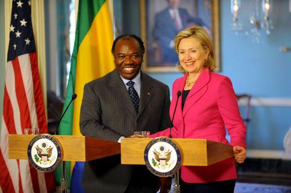 Secretary Clinton With President Bongo of Gabon