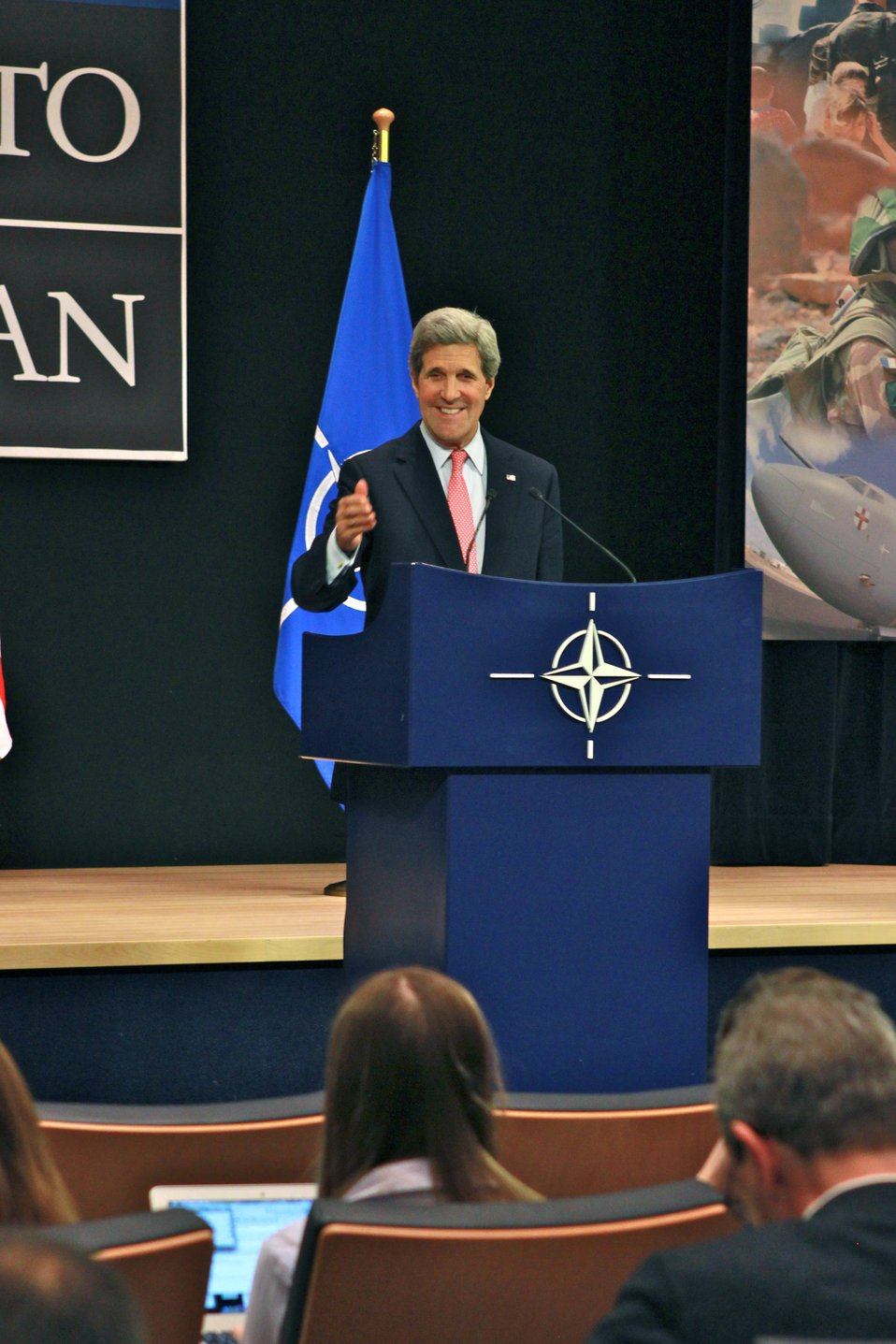 Secretary Kerry Holds a Press Conference at NATO Foreign Ministerial