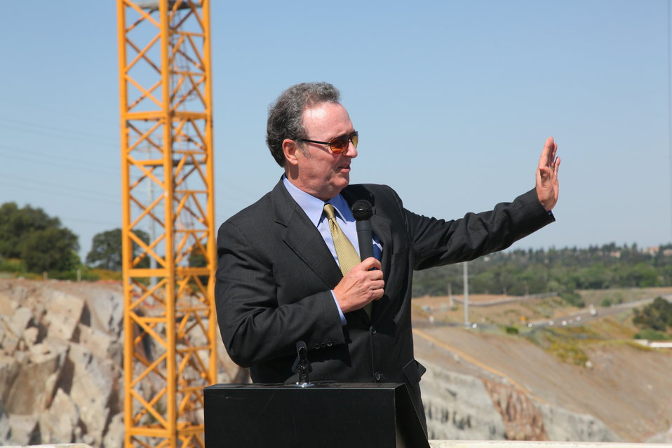First concrete ceremony for Folsom Dam spillway