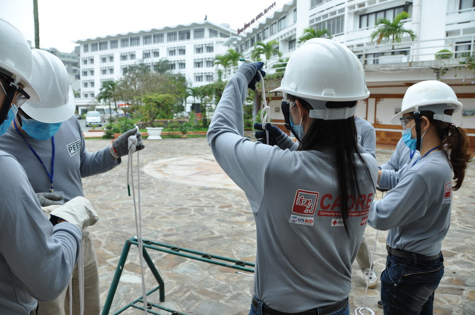 Disaster and Emergency Training Funded by USAID in Hue, Vietnam