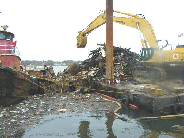 Srping 2002, Wooden  boat demolition and removal