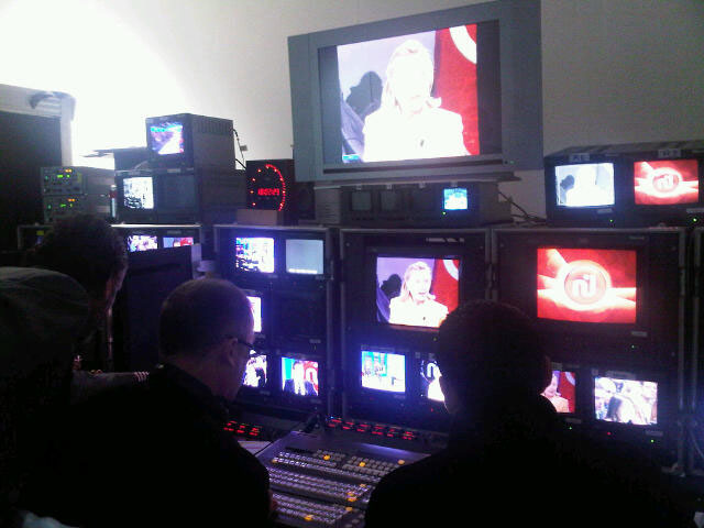 Behind the Scenes: Secretary Clinton Is Backstage on Nessma TV in Tunis