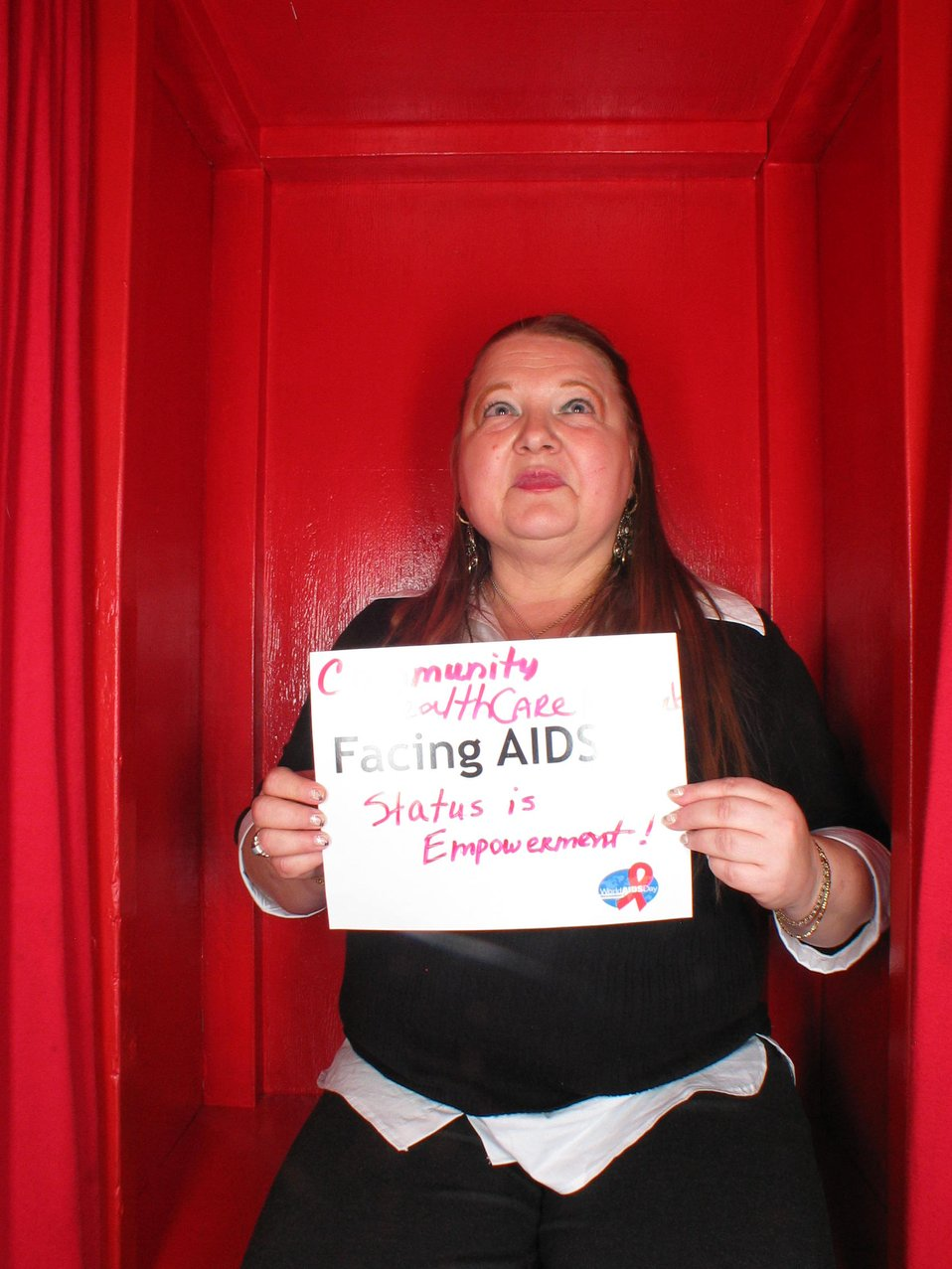 Facing AIDS status is empowerment.
