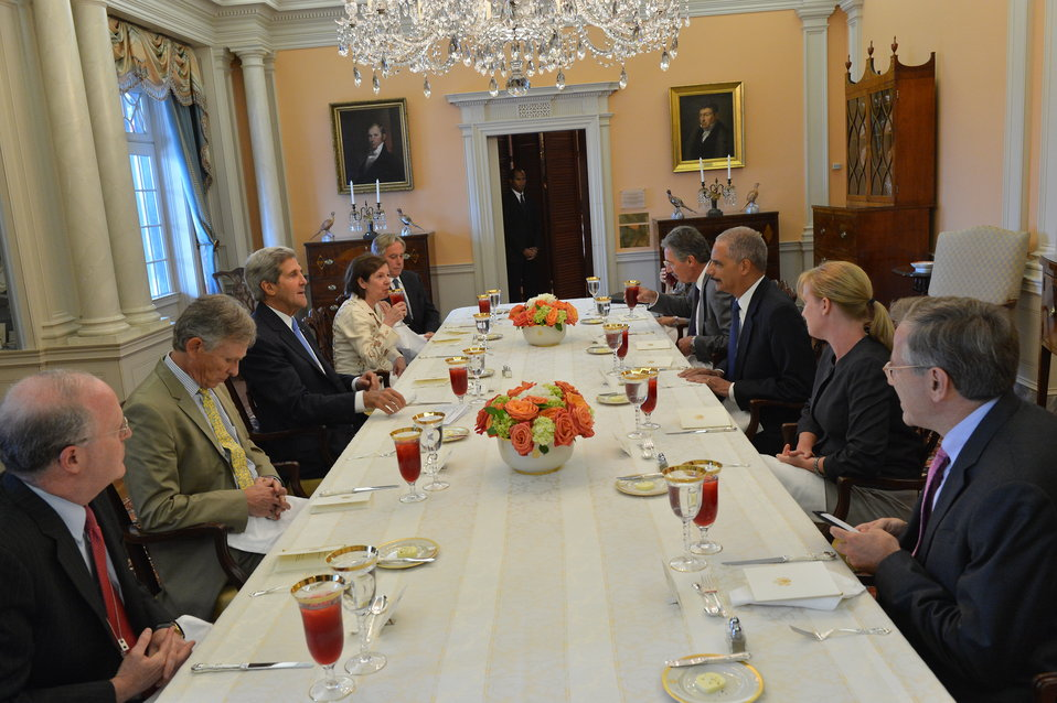 Secretary Kerry meets with Attorney General Eric Holder