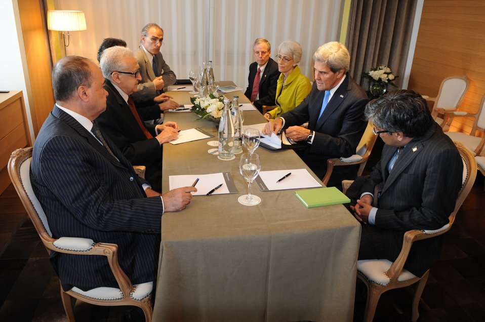Secretary Kerry Meets with UN Special Envoy Brahimi