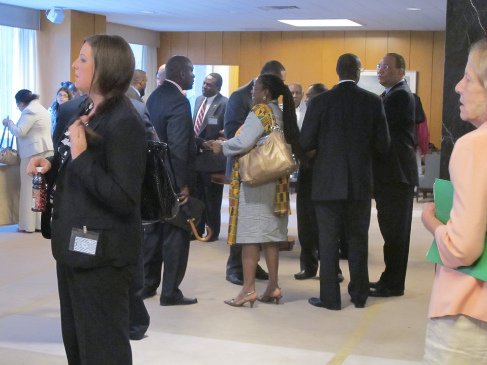 Participants in the Caribbean Conference Utilize Break for Networking