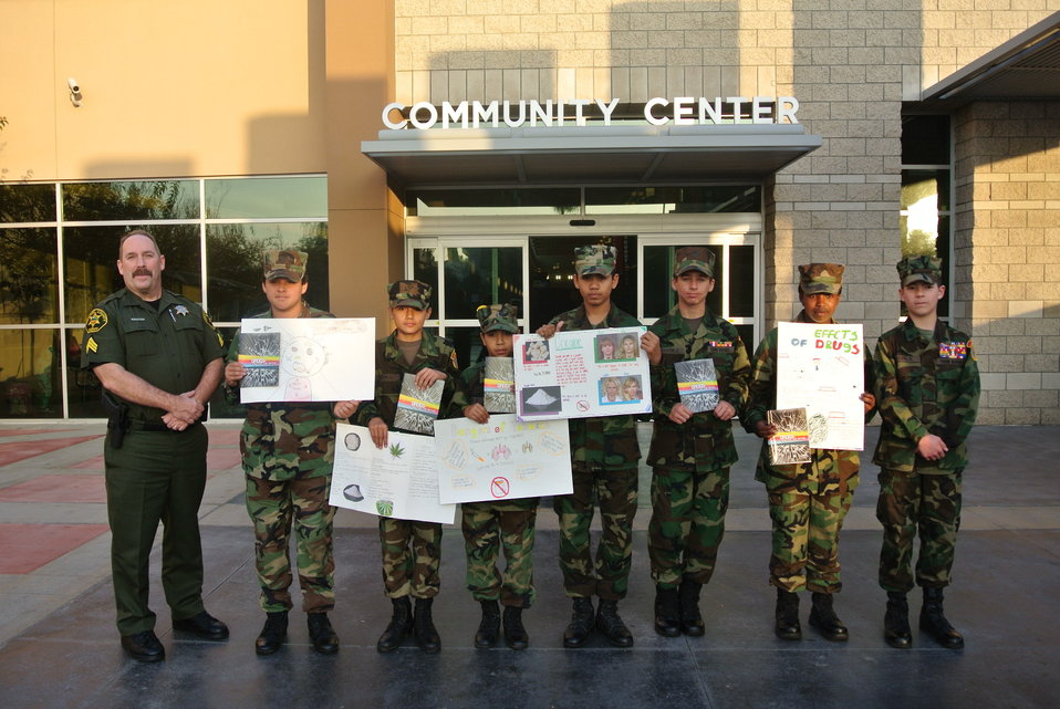 National Drug Fact Week at the Brea Community Center in Brea, California hosted by Tustin Young Marines.