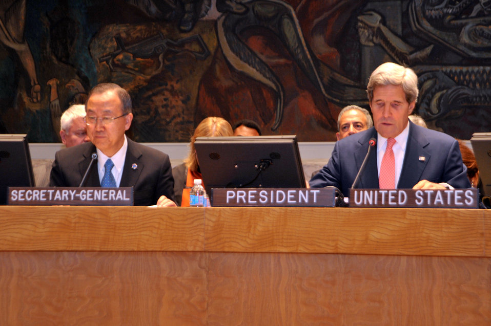 Secretary Kerry and UN Secretary General Ban Ki-moon Discuss Africa's Great Lakes Region