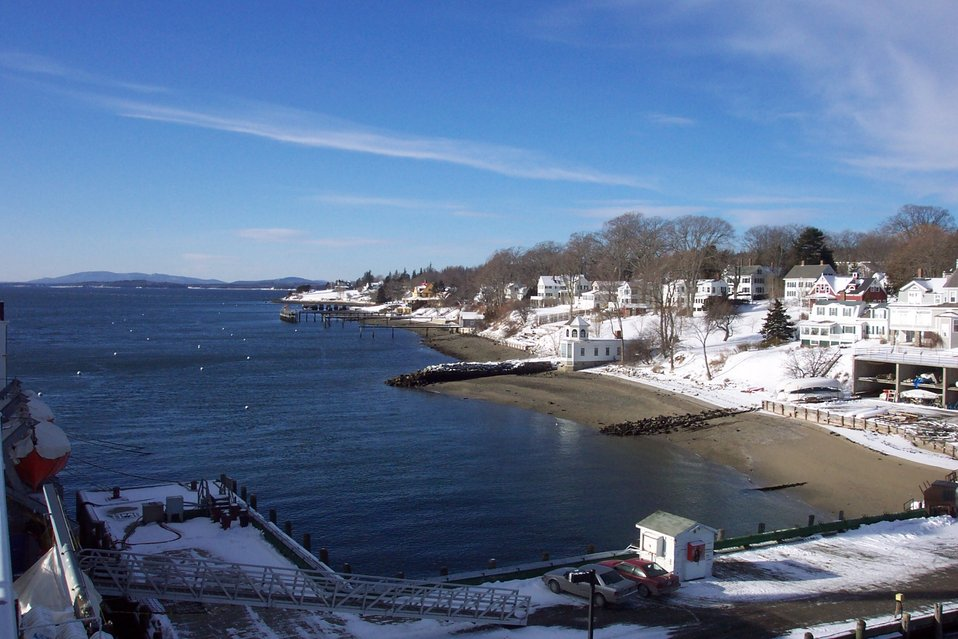 Looking west along the Castine shoreline.