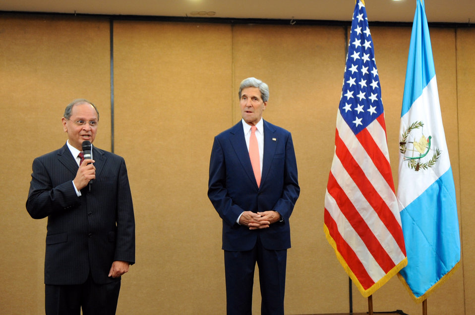 Ambassador Chacon Introduces Secretary Kerry