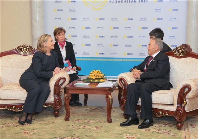 Secretary Clinton Meets With Kazakh President Nursultan Nazarbayev