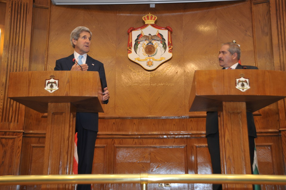 Secretary Kerry, Jordanian Foreign Minister Judeh Speak with Press