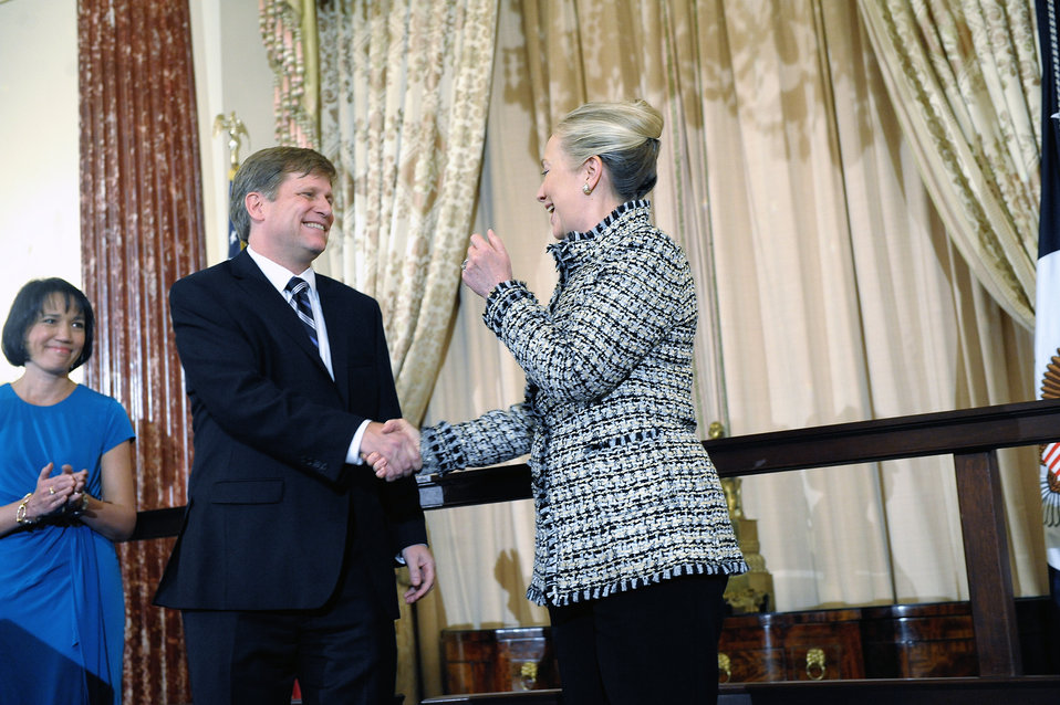 Secretary Clinton Holds a Swearing-In Ceremony for Ambassador-Designate McFaul
