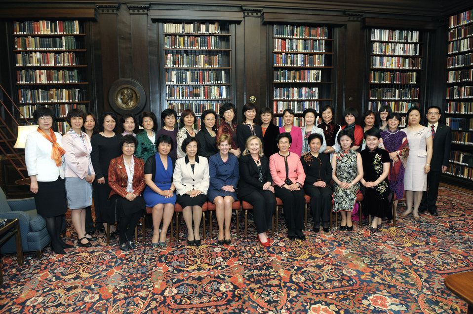 Secretary Clinton and Ambassador Verveer Meet With Participants in the Yale Chinese Women's Leadership Development Program
