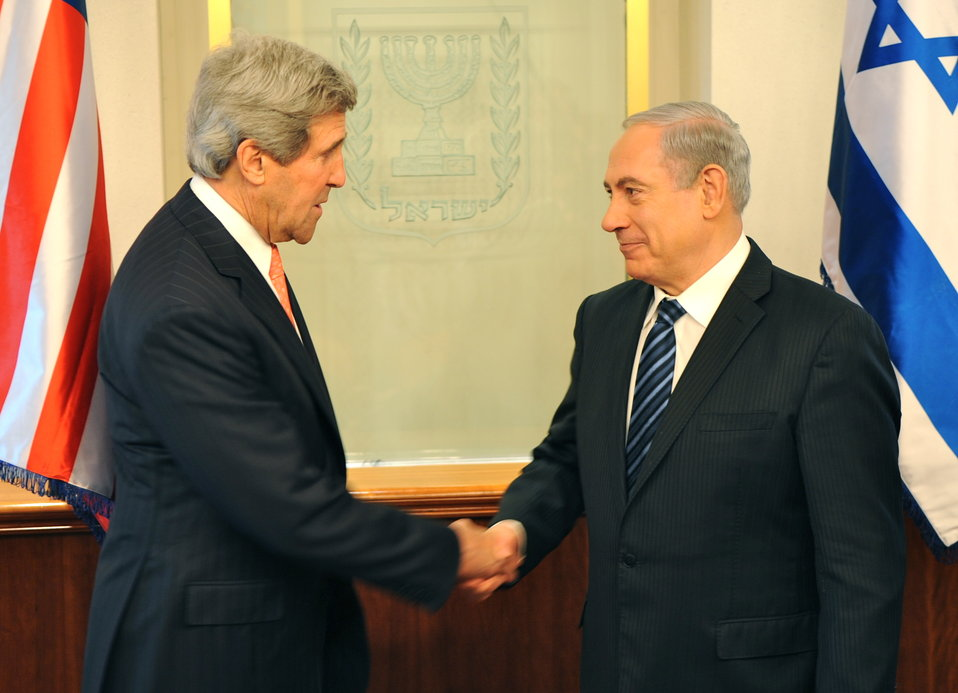 Secretary Kerry Greets Prime Minister Netanyahu