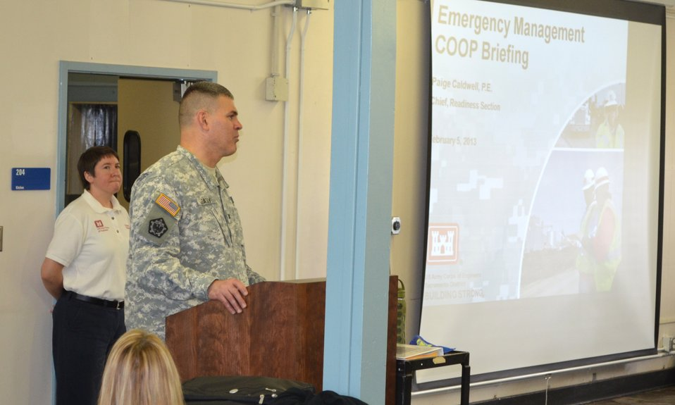 Corps conducts emergency operations training