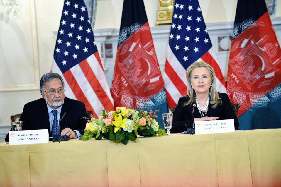 Secretary Clinton Hosts the U.S.-Afghanistan Bilateral Commission