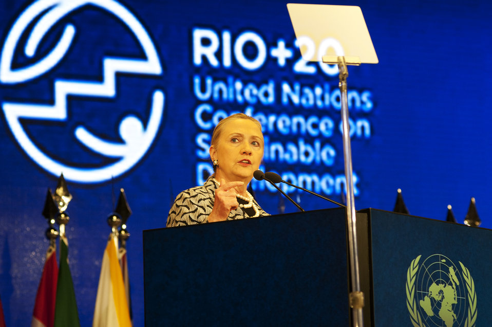 Secretary Clinton Delivers Remarks During the Plenary Session of the Rio 20 Conference