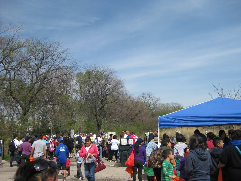 Community tree planting day Chicago May 10 2014
