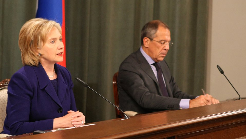Secretary Clinton With Russian Foreign Minister Lavrov