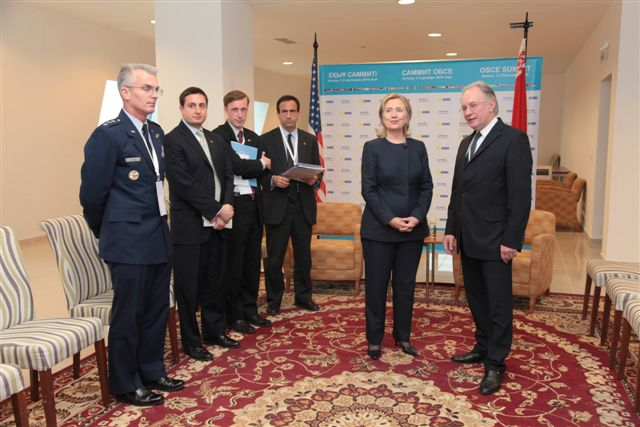 Secretary Clinton Holds a Bilateral Meeting With Belarussian Foreign Minister Martynov