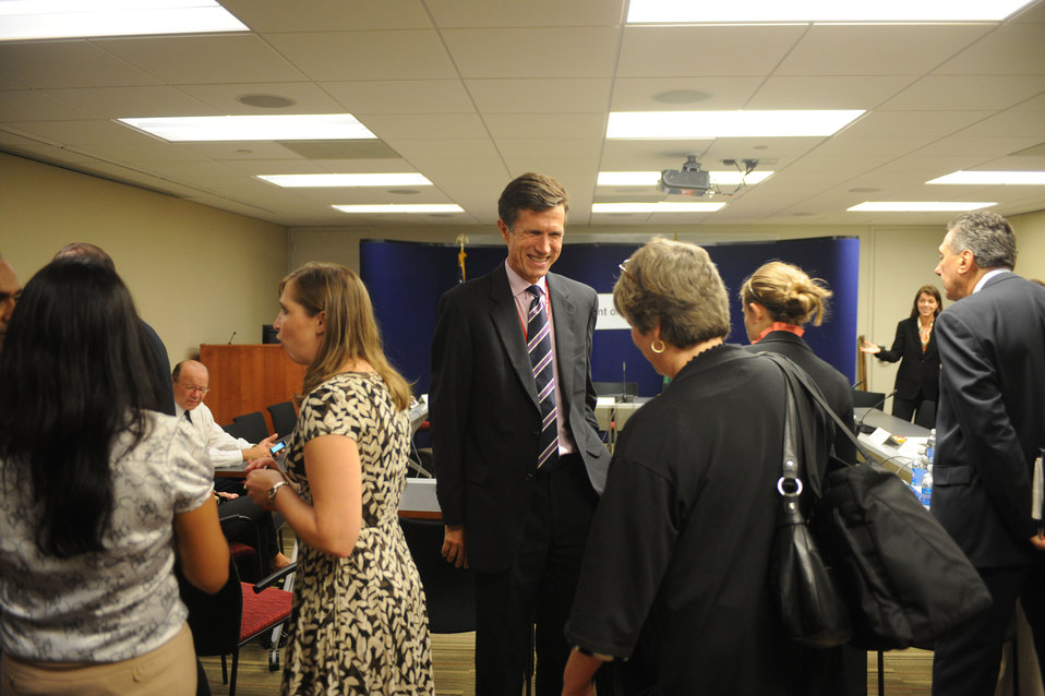 Assistant Secretary Blake Speaks With Participants