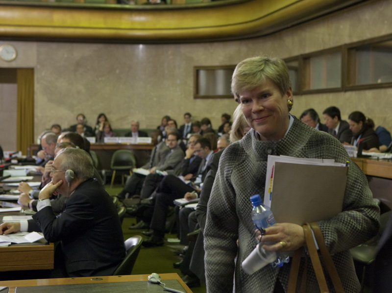Assistant Secretary Gottemoeller Prepares To Deliver the Opening Statement