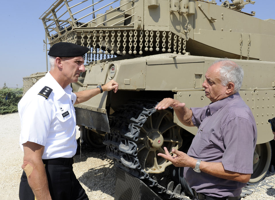 Lieutenant Hertling Tours the Latroun Museum and Grounds in Israel