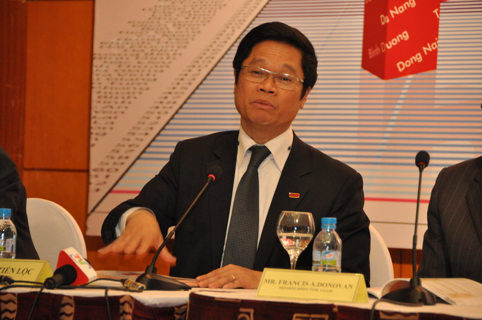 VCCI Chairman Vu Tien Loc at the Provincial Competitiveness Index 2011 Launch