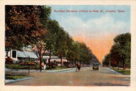 Residential District, Main Street, Houston, Texas