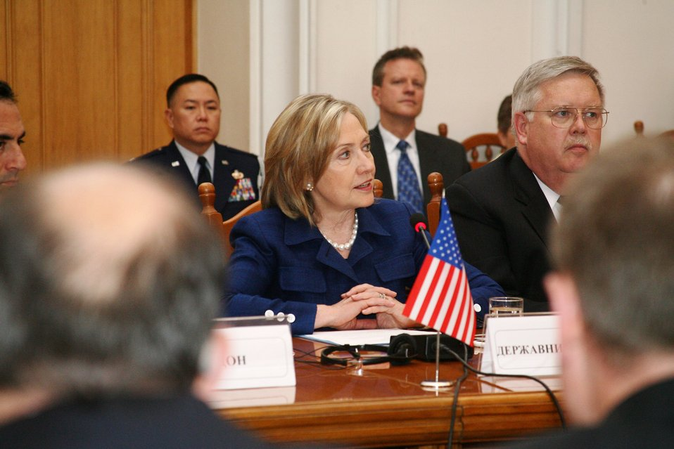 Secretary Clinton Meets Participates in the Strategic Partnership Commission Discussion