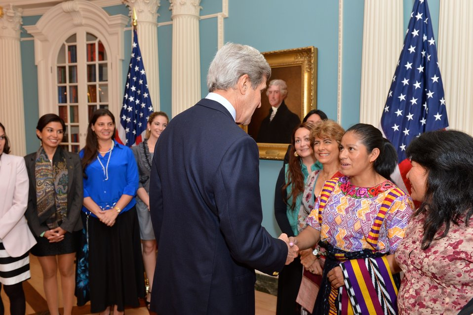 Secretary Kerry Meets With WEAmericas Entrepreneurship Group Participants