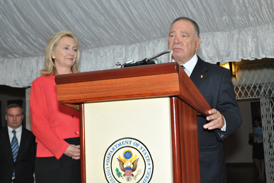 Ambassador Yzaguirre Introduces Secretary Clinton