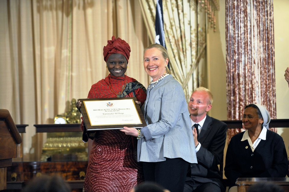 Secretary Clinton With TIP Hero Fatimata M'Baye