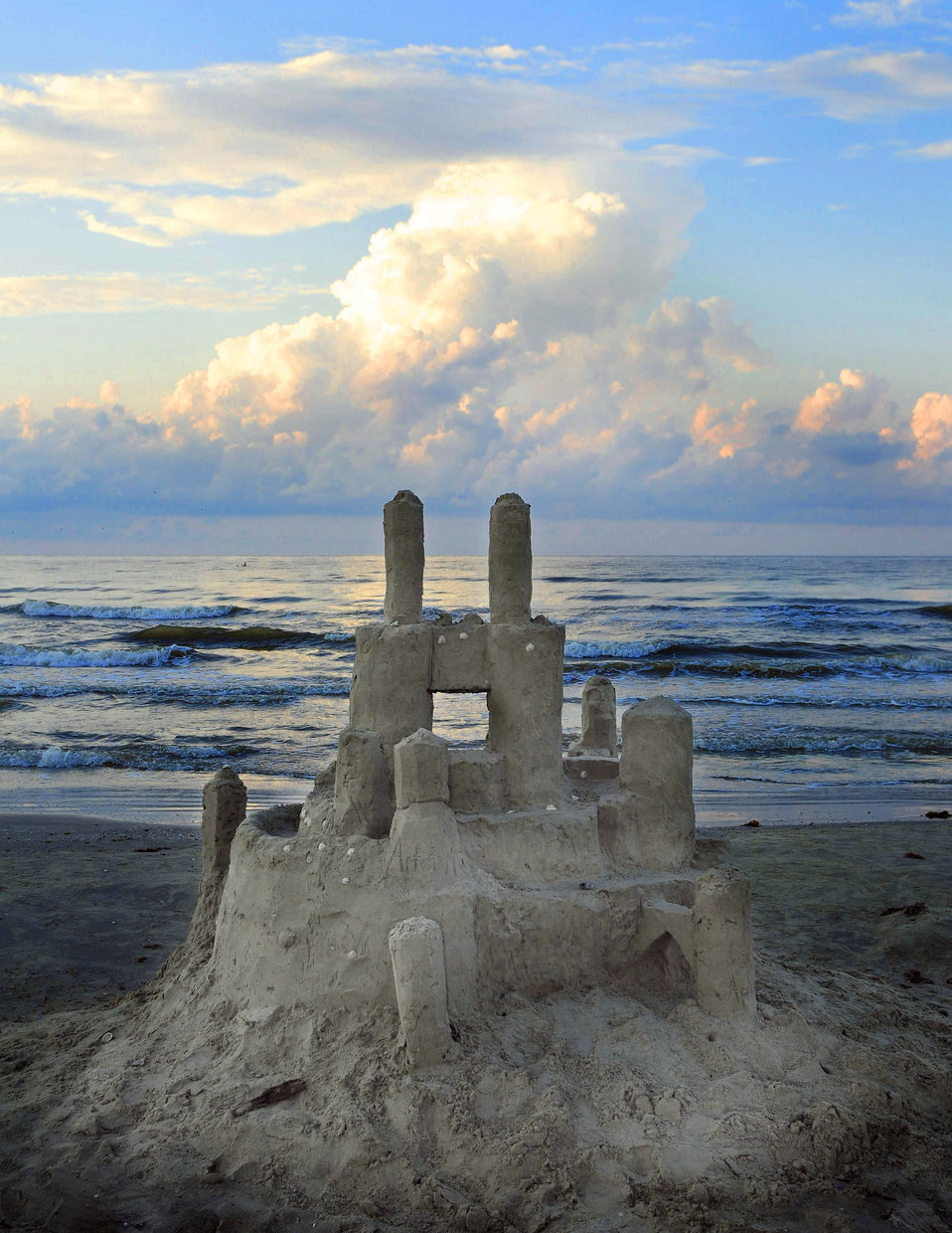 Galveston Island Park Beach Sand Castle