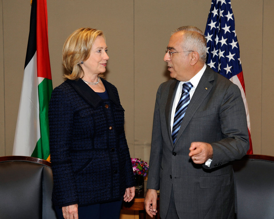 Secretary Clinton Meets With Palestinian Prime Minister Fayyad