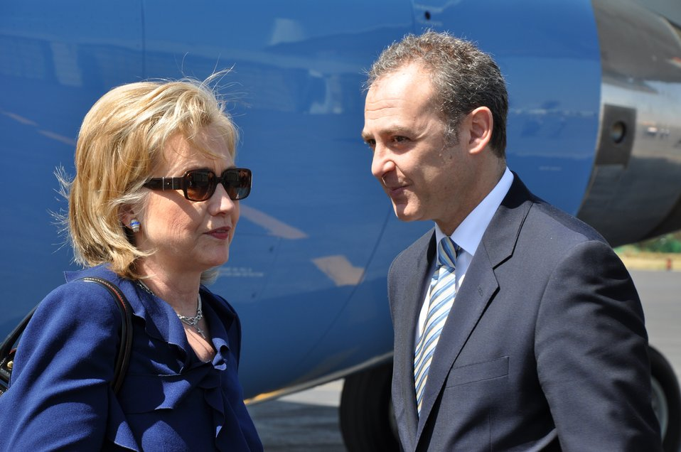 Secretary Clinton With Mexican Ambassador to the U.S. Arturo Sarukhan