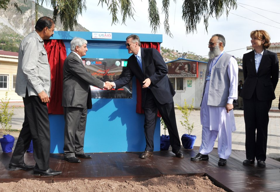 The United States Ambassador to Pakistan, Richard Olson broke ground for a U.S. funded construction of a new Faculty of Education building in Muzaffarabad, AJK.  18