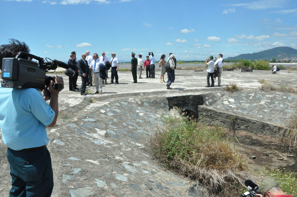 Touring the Danang Airport site with project launch participants