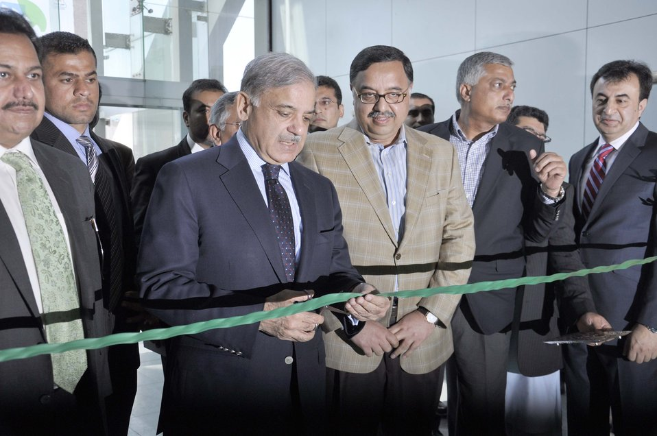 Punjab Chief Minister Muhammad Shahbaz Sharif inaugurating the Dawn Sarsabz Pakistan Agri Expo.