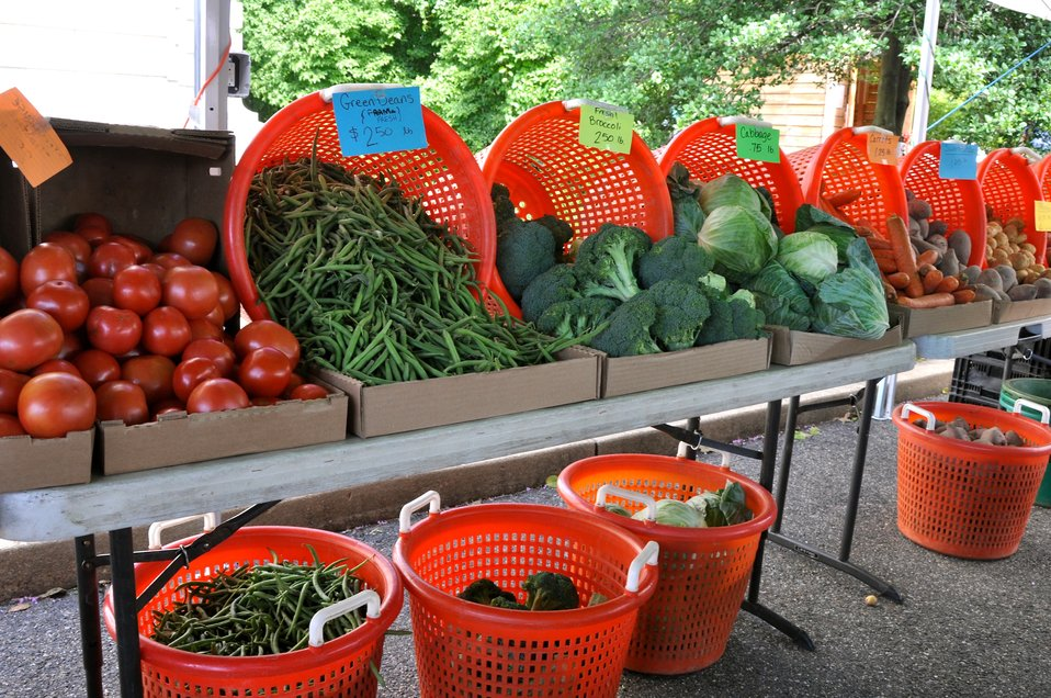 Produce at the USDA Farmers Market
