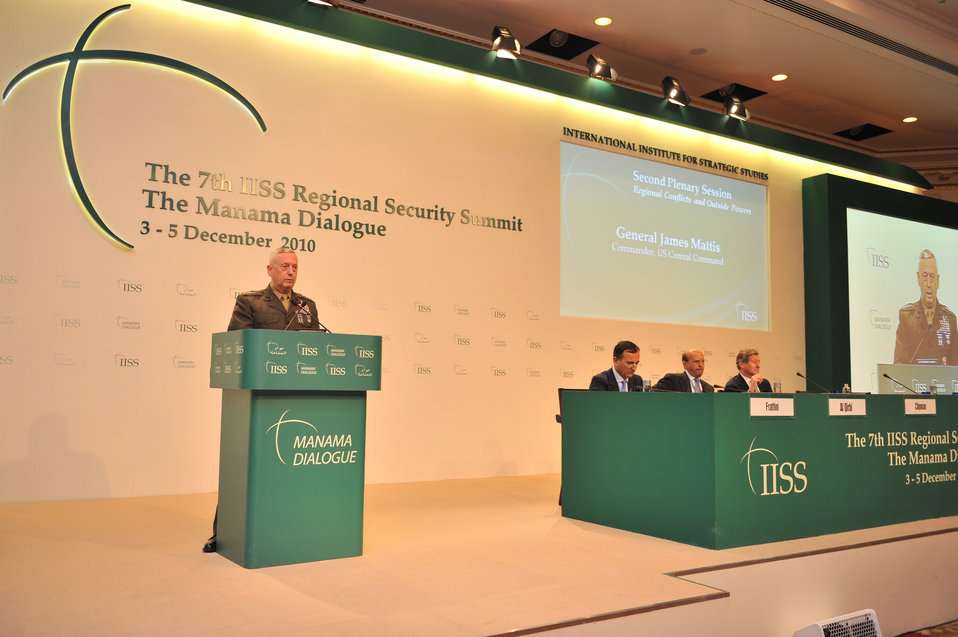 General Mattis Speaks at the Seventh IISS Regional Security Summit Manama Dialogue