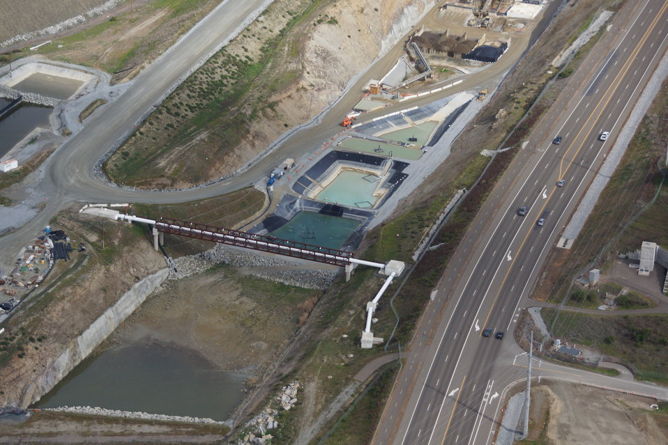 Aerial View of Folsom Dam Auxiliary Spillway