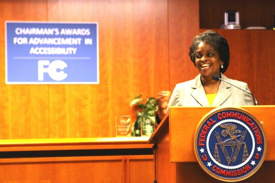 Commissioner Clyburn Giving Remarks at the Advancement in Accessibility Awards