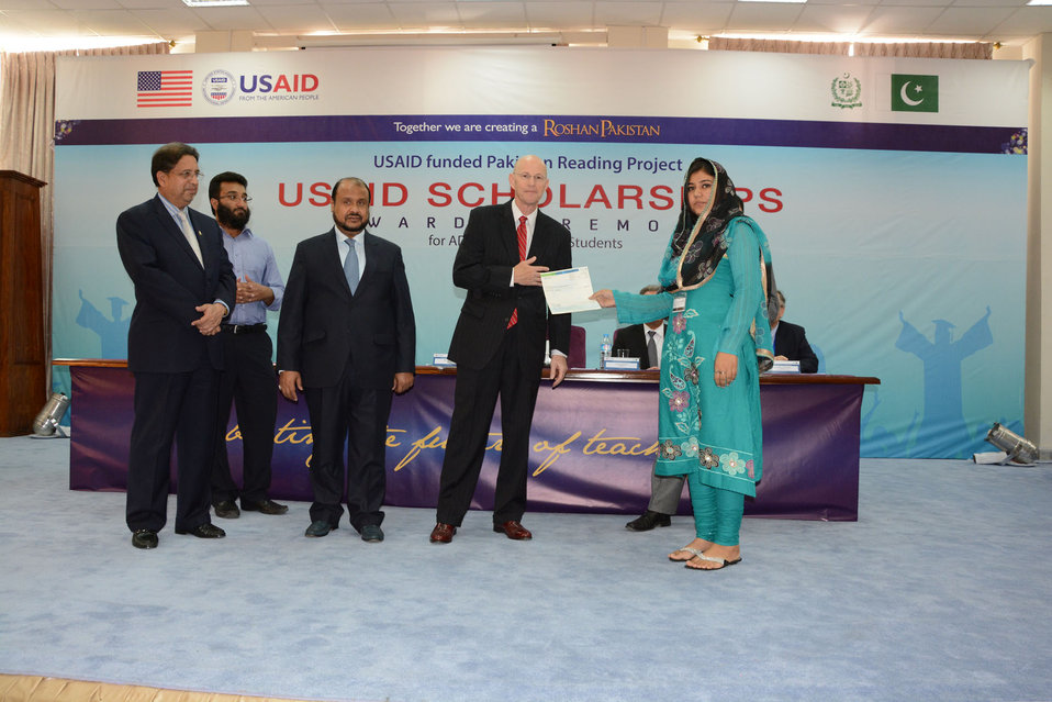 USAID awarded scholarships to 26 students of undergraduate degree programs in teacher education from the International Islamic University, Islamabad as part of the $165 million Pakistan Reading Project.