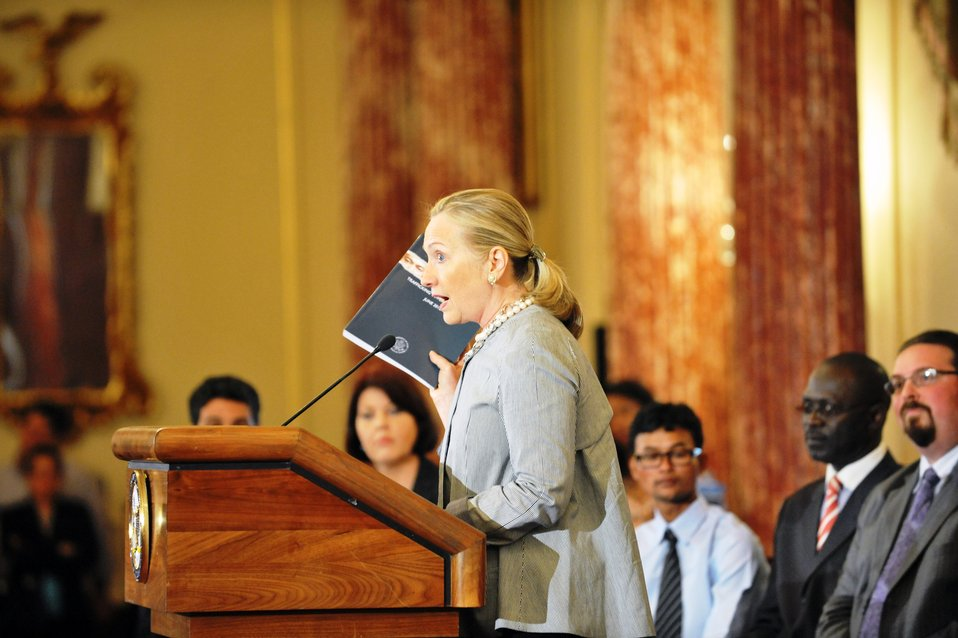 Secretary Clinton Unveils the 2012 Trafficking in Persons Report