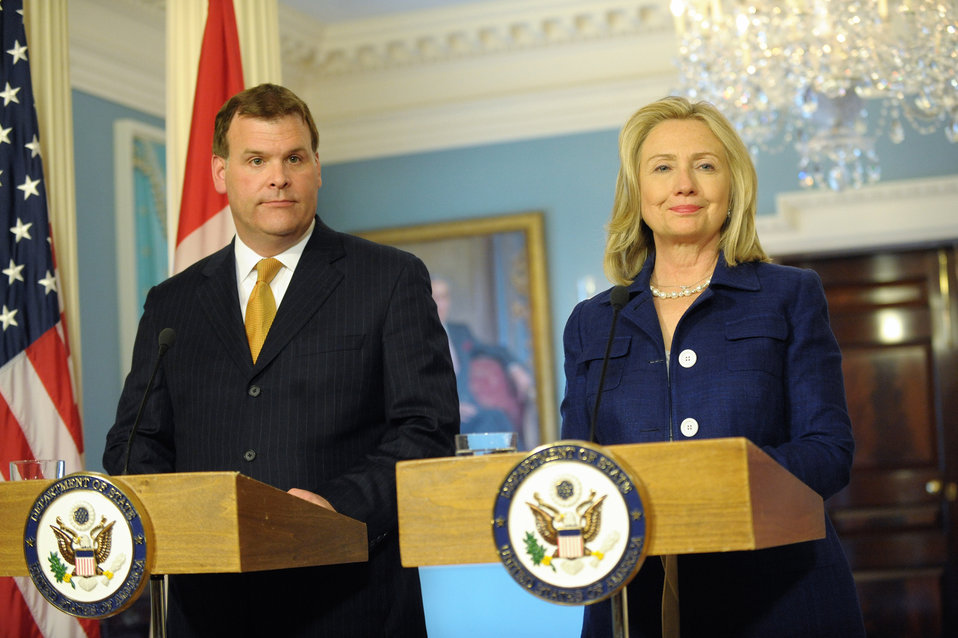 Secretary Clinton Meets With Canadian Foreign Affairs Minister Baird